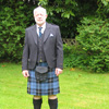 David Ramsay in a kilt